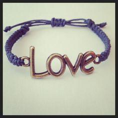 Love macrame bracelet by AroundMyWrist on Etsy, $10.95