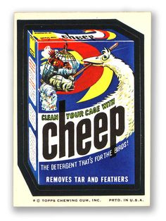 Topps Wacky Packages  8th Series 1974 CHEEP DETERGENT