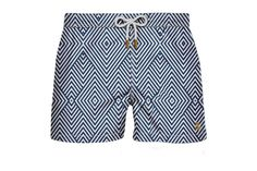 Swimwear Trunk Navy Blue Arrows Short Front View