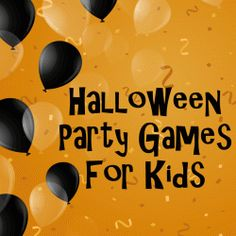 Are you hosting a Halloween Party for your kids this year? You've thought about the decorations and the food, you've told everyone to wear costumes but have you planned any games? Planning a few party games on a loose schedule will be the thing that. Theme Halloween, Halloween Party Games, Halloween Carnival, Halloween Birthday, Halloween Activities, Holidays Halloween, Halloween Kids, Halloween Crafts, Creepy Halloween