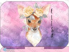 Yumbox Aufkleber Personalisiert - Deer Yumbox Decal Sticker Deer with your own Name  #yumbox #bentobox #aufkleber #yumboxaufkleber Snack Box, Cover, Moose Art, Confusion, Stickers, Etsy, Creative, Popular, How To Make