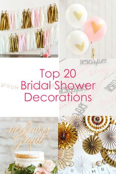 Planning a bridal shower? Find the best bridal shower decorations all in one place!