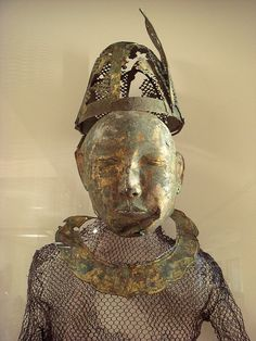 Mongolische Totenmaske, Liao-Dynastie, 10. Jahrhundert