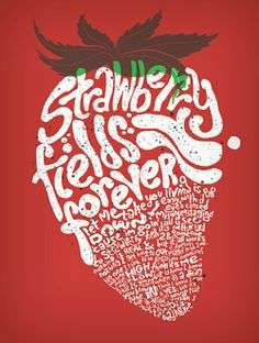 1960's poster~Strawbery Field's Forever