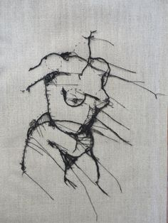 Stitched drawing, gorgeous!!