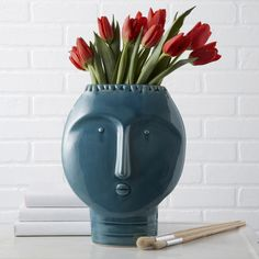 Vases, Face Design, so retro, over 3,000 beautiful limited production interior design inspirations inc, furniture, lighting, mirrors, tabletop accents and gift ideas to enjoy pin and share at InStyle Decor Beverly Hills Hollywood Luxury Home Decor enjoy & happy pinning