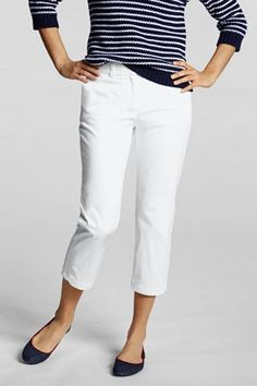 navy and white. i would put my favorite hot pink flats with this