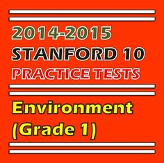 You can have this practice test (Environment K, 1, and 2) for FREE. Click here to find out how. http://sirarthurdeesonlineteachingresources.com/