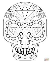 simple sugar skull outline - Google Search