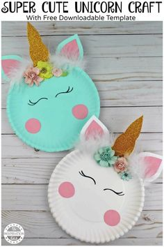 Kids Easy Unicorn Paper Plate Craft · The Inspiration Edit