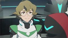 Pidge smiles back at Keith as she is back on the team from Voltron Legendary Defender