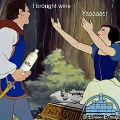 60 Ideas for birthday meme wine lol Drunk Disney, Funny Disney Memes, Disney Art, Wein Parties, Wine Meme, Wine Jokes, Twisted Disney, Coffee Wine, In Vino Veritas