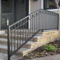 Image result for stoop metal railing craftsman