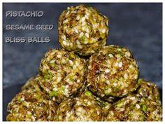 sesame seed  pistachioenergy balls ... a vegan, gluten free recipe for a yummy healthy sweet treat