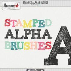 Stamped Alpha Brushes