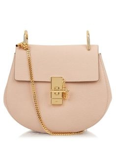 CHLOÉ Drew Small Leather Shoulder Bag. #chloé #bags #shoulder bags #lining #lace #suede #metallic #