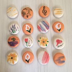 Handpainted macarons the finale to my upcoming book - Mastering Macarons, Classic to Contemporary Techniques - soon to be available on Amazon.