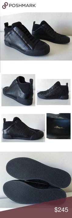 """3.1 PHILLIP LIM MORGAN HIGH-TOP LEATHER SNEAKERS 3.1 Phillip Lim Morgan  -Condition: Brand New Without Box. -Size: EU Size 38 (Insoles measure 9 3/4""""). -Model: Morgan. -Color: Black. -Quilted leather high-tops. -Elasticated Laces. -Round toe. -Tonal neoprene tongue, vamp & back quarter. -Double eyelet detail at side. -Pull tab at back. -Leather insole & lining. -Contrast rubber outsole & sole. -100% lamb leather. -Retails for $425.00 -Same Day Shipping. 3.1 Phillip Lim Shoes Sneakers"""