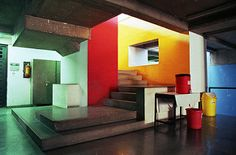 ahmedabad - gandhi labor institute 07 - downstairs colors   by Doctor Casino