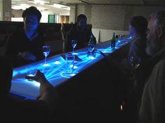 bar- glowing table