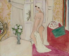 Henri Matisse - Young Girl with the Vase of Flowers or Pink Nude 1921