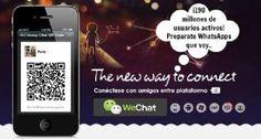 WeChat llega a los 190 millones de usuarios activos, ¿quién dijo miedo a WhatsApp?
