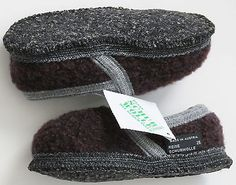 Wesenjak Austria Boiled Wool House Slippers Euro 26  U.S. 8 NWT
