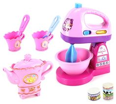 Fancy Household Kitchen Pretend Play Battery Operated Toy Home Appliances Play Set W/ Accessories (Styles May Vary), 2015 Amazon Top Rated Housekeeping #Toy