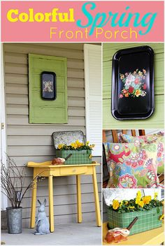 Colorful DIY porch d