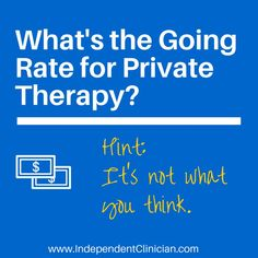 What should you charge for privates speech therapy services? It's complicated. Find out why here: https://www.independentclinician.com/blog/why-the-going-rate-for-private-therapy-services-doesnt-matter