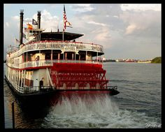 Steamboat Natchez on Mississippi River, New Orleans, Louisiana ... did this with my beautiful Grandmother <3 <3 Her and I rode the train from Union Station in Los Angeles to New Orleans .. .quite the trip!