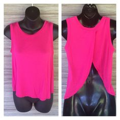 Lipstick hot pink top Opens in the back. Great condition. Worn a handful of times. Very comfy. Lipstick Boutique Tops Blouses