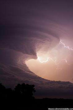 An amazing supercell tracks across southern Nebraska, producing other-worldy storm structures. At times this storm looked like a giant tsunami in the sky. The supercell formed after two supercells merged near McCook Nebraska. It then tracked eastward as one storm till it died after midnight east of Hastings Nebraska.