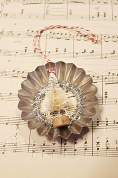 DIY Vintage Tart Tin Ornaments