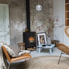 How whimsical is this shabby chic space with a disco ball