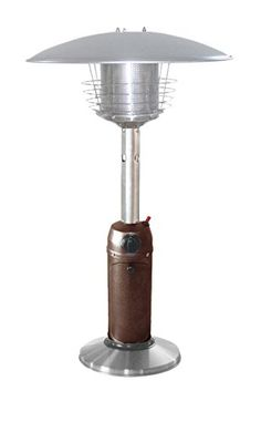 Outdoor Heaters   AZ Patio Heaters HLDS032BB Portable Table Top Stainless  Steel Patio Heater Hammered Bronze