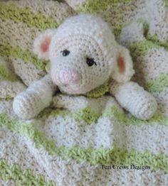 New Lamb Huggy Blanket Crochet Pattern