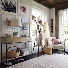 CA beachy - saved for the simple baseboards and window casings. A look that would be good in our CA house especially when I can get ceilings covered with planks.