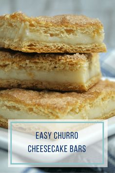 These churro cheesecake bars are a cinch to make using ready-madedough and a few simple ingredients. Your family will LOVE them and think you worked all day in the kitchen for this treat!