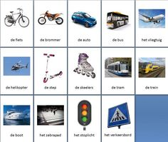 Grote themakaarten voor het thema verkeer, we hebben voor vele thema's grote en kleine themakaarten op de website van Juf Milou.