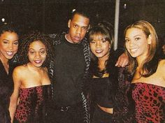 Destiny's Child with Jay-Z in the - Beyonce Beyonce Knowles Carter, Beyonce And Jay, 90s Hip Hop, Hip Hop And R&b, Hip Hop Fashion, 90s Fashion, Young Jay Z, Black Is Beautiful, Beautiful People