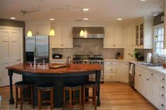 This is almost *exactly* what my  kitchen is going to look like. Fridge/sink/range placement, white cabinets, etc.