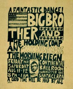 1960s-Big Brother and the Holding Company poster