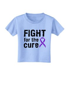 TooLoud Fight for the Cure - Purple Ribbon Crohn's Disease Toddler T-Shirt
