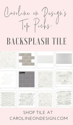 Need backsplash ideas. Shop backsplash tile here and find Caroline on Design top picks! Marble Tile Backsplash, Kitchen Backsplash, Backsplash Ideas, Tile Ideas, Interior Decorating Tips, Interior Design Tips, Design Ideas, Beautiful Bathrooms, Beautiful Kitchens