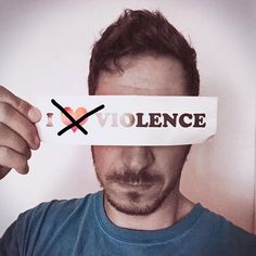 [against violence]  #stopviolence #peace #statement #loveyourlife #loveyourself #instameme