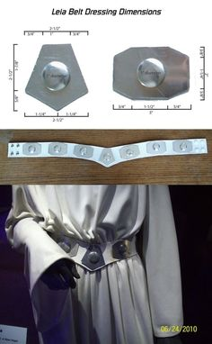 In the movie, there's actually an medallion that is covering the snaps in the back of the belt, but that medallion was missing on the exhibit belt. Run Disney Costumes, Comic Con Costumes, Running Costumes, Star Wars Costumes, Diy Costumes, Halloween Costumes, Princess Leia Belt, Princess Leia Cosplay, Star Wars Princess Leia