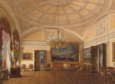 Interiors of the Winter Palace. The First Reserved Apartment. The Large Salon of Grand Princess Maria Nikolayevna and Duke M. Leuchtenberg