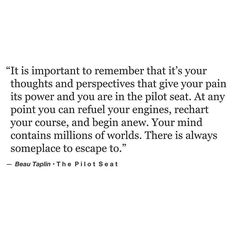 The pilot seat. [beau taplin]