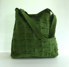 Sale  Forest Green Hemp/Cotton Bag tote purse diaper by tippythai, $39.00